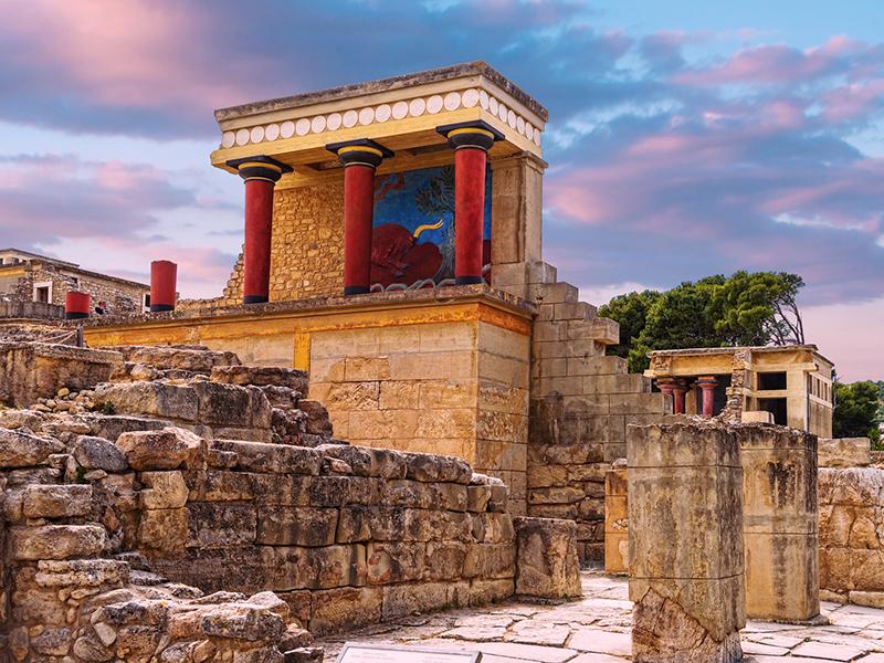 Kreta - Iraklion, Palast von Knossos